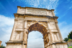The iconic Arch of Titus in the Roman Forum, Rome Stock Photography