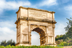The iconic Arch of Titus in the Roman Forum, Rome Stock Image