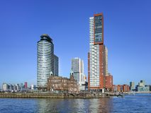 Free Iconic Architecture At Kop Van Zuid Island, Rotterdam, Netherlands Royalty Free Stock Images - 110576969