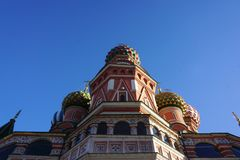 Iconic architecture of the beautiful Saint Basil`s Cathedral on royalty free stock photo