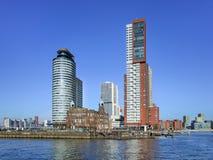 Iconic arkitektur på Kop skåpbil Zuid Ö, Rotterdam, Nederländerna royaltyfria bilder