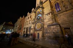 Prague astronomical clock after renovation royalty free stock photos