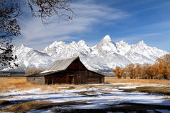 Iconic barn in Grand Teton National park Stock Image