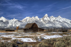 Iconic Barn, Grand Tetons Royalty Free Stock Image