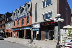 Iconic bars on York Street in Ottawa Stock Photo
