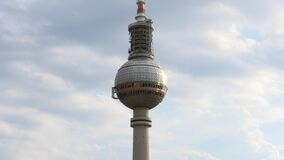 Iconic Berlin TV Tower. Video of iconic Berlin TV Tower stock footage