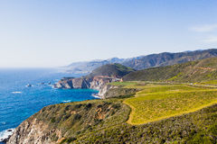 Iconic Bixby bridge in Big Sur, California Royalty Free Stock Images
