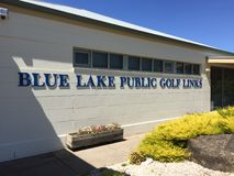 The Iconic Blue Lake Golf Club Stock Photos