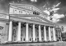 The iconic Bolshoi Theatre, sightseeing and landmark in Moscow, Royalty Free Stock Image