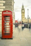 The iconic british old red telephone box Royalty Free Stock Photos