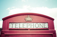 Iconic British red telephone box Stock Photography