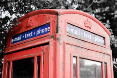 Iconic British red telephone box. With filter effect applied Stock Photography