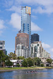 Iconic buildings in Mebourne CBD Royalty Free Stock Image