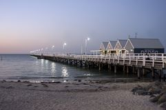 Iconic Busselton jetty, Busselton, WA, Australia royalty free stock images