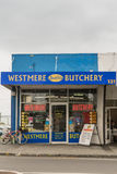 Iconic Butchery in the Westmere suburb of Auckland. Stock Photos