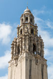Iconic California Tower at Museum of Man in Balboa Park. SAN DIEGO, CALIFORNIA - APRIL 28, 2017:  The iconic California Tower at the Museum of Man in Balboa Park Royalty Free Stock Photos