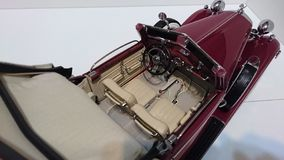 Horch 853 retro classic car top up interior details - die-cast scale model royalty free stock photos