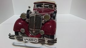 Horch 853 retro classic car - die-cast scale model. Iconic cars ancestors of the German car producer Audi - luxury miniature hobby collection stock photo