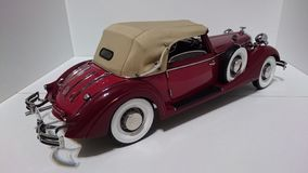 Horch 853 retro classic car top down back view - die-cast scale model stock image