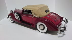 Horch 853 retro classic car top down back view - die-cast scale model stock photos