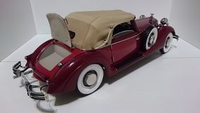 Horch 853 retro classic car top down opened trunk - die-cast scale model royalty free stock photos