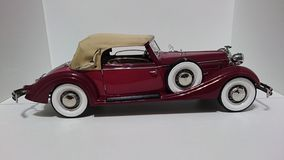 Horch 853 retro classic car top down side view - die-cast scale model stock photo