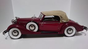 Horch 853 retro classic car top down side view - die-cast scale model royalty free stock images