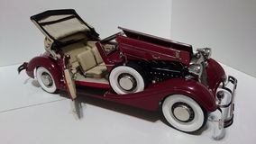Horch 853 retro classic car top up opened bonnet and door - die-cast scale model. Iconic cars ancestors of the German car producer Audi - luxury miniature hobby stock images