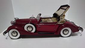 Horch 853 retro classic car top up side view - die-cast scale model royalty free stock photos