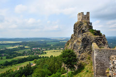 Iconic castle of Trosky in the Bohemian Paradise royalty free stock image