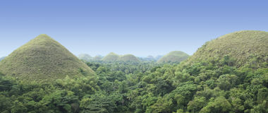 Bohol chocoltae hills panorama philippines Royalty Free Stock Photography