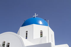Iconic church with blue cupola Stock Photography