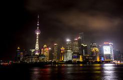 The iconic cityscape at night Royalty Free Stock Photos