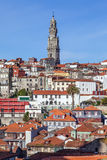 The iconic Clerigos Tower in the city of Porto, Portugal stock photo