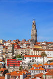 The iconic Clerigos Tower in the city of Porto, Portugal Royalty Free Stock Photos