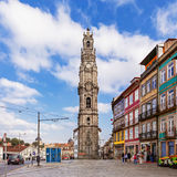 The iconic Clerigos Tower stock images