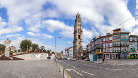 The iconic Clerigos Tower. Porto, Portugal. January 5, 2015: The iconic Clerigos Tower, one of the landmarks and symbols of the city. Unesco World Heritage Site Royalty Free Stock Photos