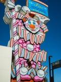 Iconic clown, Reno, Nevada. Casino clown sign, Virginia Street, Reno stock photo