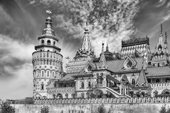 The iconic complex Izmailovskiy Kremlin in Moscow, Russia Stock Image