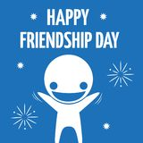 Iconic composition happy friendship celebration Stock Images