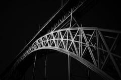 Iconic D. Luis iron bridge. Old D Luis bridge, Porto, Portugal. Digital work Royalty Free Stock Photos