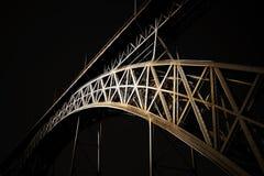 Iconic D. Luis iron bridge Stock Image