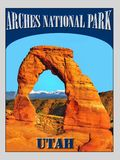 Arches National Park, Utah, Travel Poster Royalty Free Stock Photos