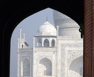 Iconic detail view of the Taj Mahal Royalty Free Stock Photography