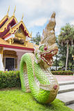 Iconic Dragon Statue at a Buddhist Temple Royalty Free Stock Image