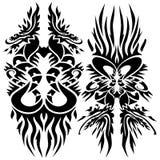iconic dragons (tattoo) Stock Image