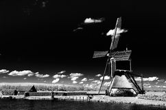 Iconic Dutch landscape stock photo