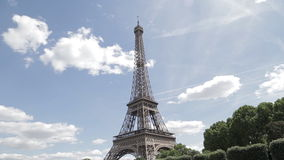The iconic Eiffel tower stock footage