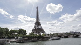 The iconic Eiffel tower stock video footage