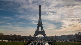 The iconic Eiffel tower in Paris, France. View of the iconic Eiffel tower in Paris, France Royalty Free Stock Image